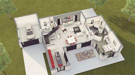Interieur De Maison Contemporaine Plan Interieur Maison Moderne