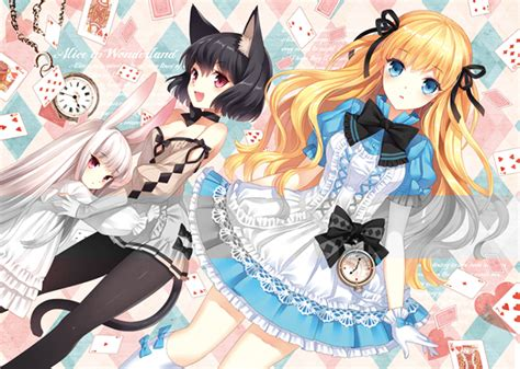 Anime Art Alice In Wonderland. . .alice. . .cheshire Cat
