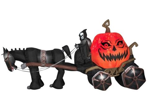 inflatable airblown reaper  carriage pumpkin