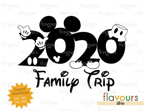 This is not about actual vacations to disneyland or disneyworld. 2020 Family Trip - Instant Download - SVG Cut File ...
