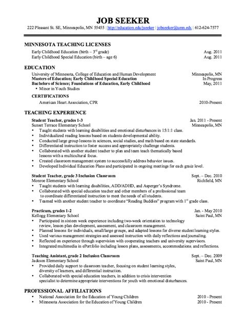 Teaching Assistant Resume by Pin By Latifah On Exle Resume Cv Resume Template