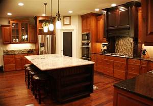 Dark Wood Kitchens, Cherry Color – Traditional Kitchen