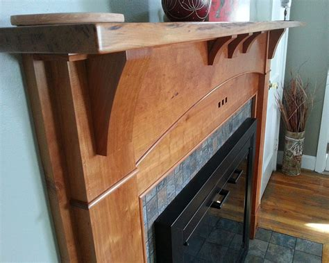 arts  crafts fireplace surround finewoodworking