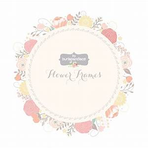 Vector Wedding Floral Wreath Clip Art, Hand Illustrated Digital Flowers , Flower frames wedding