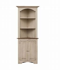 Corner, Cabinet, With, Open, Shelves
