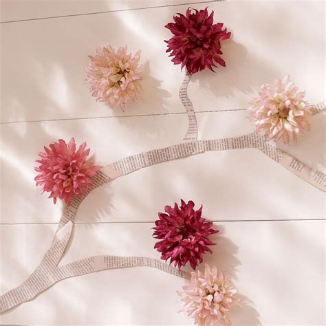 Wall Flowers Decor - easy wall decoration ideas for rooms