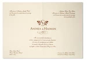 faire part de mariage classique faire part mariage haut de gamme raffiné arabesque choco ivoire