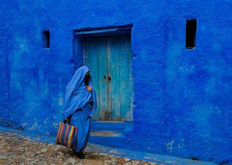 city  chefchaouen  morocco   blue