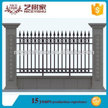 Yishu Factory Alibaba Top Quality Anti Climb Boundary Fence Price,iron Wall Grill Design Buy