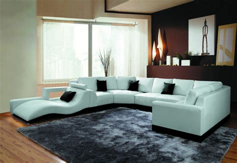 New Sectional by 2264b Modern White Leather Sectional Sofa