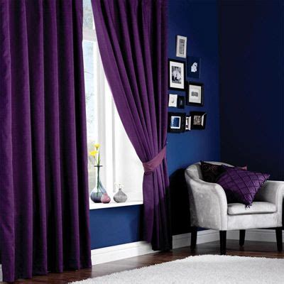 curtain color for purple wall purple curtains and blue walls probably would never do this but the colors are awesome