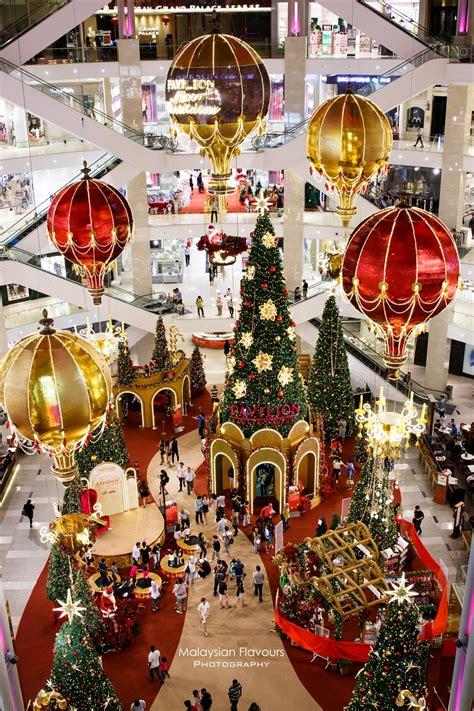 pavilion kl christmas decor  magical hot air balloon  santa love malaysian flavours