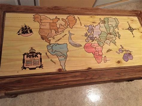 Coffee tables are for not reading material upvoted why isn t your table a covert game console insidehook working arcade my neighbor makes these album man cave home bar functional nes controller aday the arcane conceals. Custom Risk Board Coffee Table by DiyDana0 on Etsy   Handmade coffee table, Painting projects ...