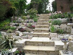 Steingarten Bilder Beispiele : steingarten gestalten treppe hang terrassen pflanzen garten pinterest steingarten ~ Watch28wear.com Haus und Dekorationen