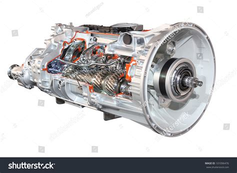 Heavy Truck Automatic Transmission Front View Stock Photo