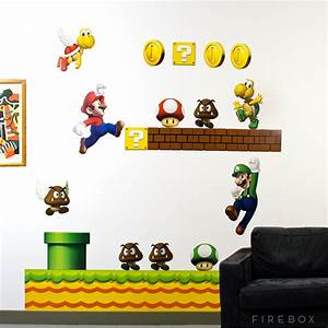 mario wall decals 2017 grasscloth wallpaper With mario wall decals