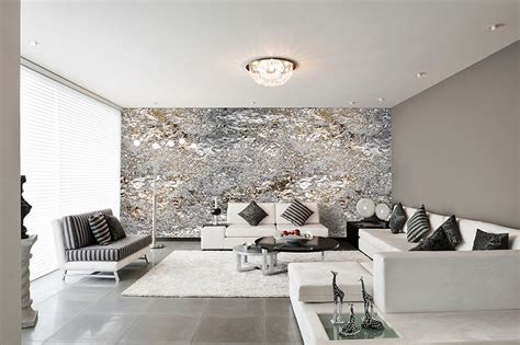tapeten ideen schlafzimmer modern modernes schlafzimmer grau design tapeten in silber grau