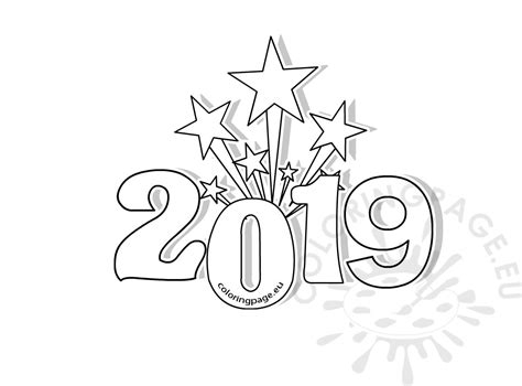happy new year coloring pages new years printable coloring pages 2019