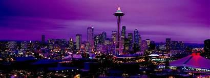 Seattle Monitor Dual Wallpapers Night 1807 Washington