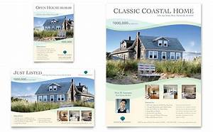 coastal real estate flyer ad template design With real estate advertisement template