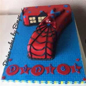 Number 7 spiderman birthday cake   birthday ideas ...
