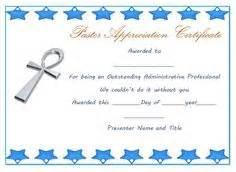 Pastor Appreciation Certificate Template Free   Pastor Appreciation Certificate Sample Pastor Appreciation
