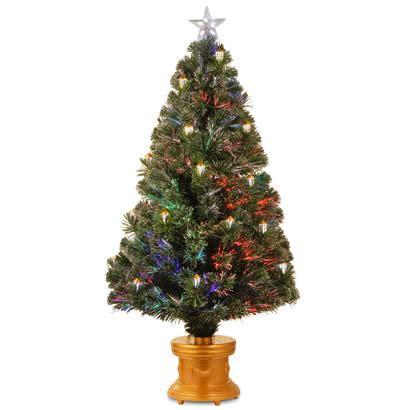 48 in fiber optic fireworks gold lantern christmas tree w