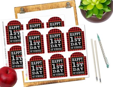 printable    school gift tags happy st day