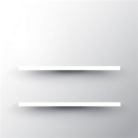 white two shelf two shelves on a white wall background vector free download