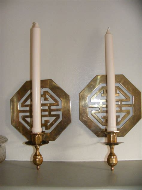 candle wall sconce beautiful asian solid brass wall sconce candle holders