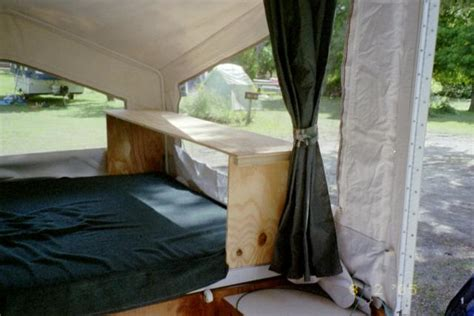 Starling Travel » Bed Storage For A Tent Trailer