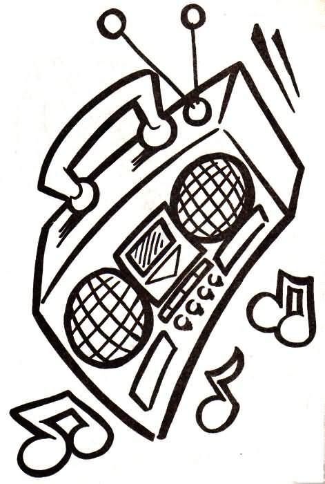 dibujo para colorear radiocd 01