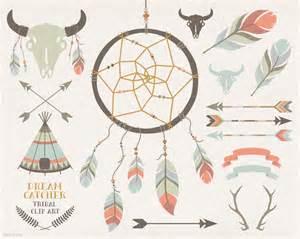 Tribal Feather and Arrow Clip Art