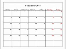 2018 Monthly Calendars Printable Activity Shelter
