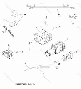 Polaris Atv 2010 Oem Parts Diagram For Options  Winch