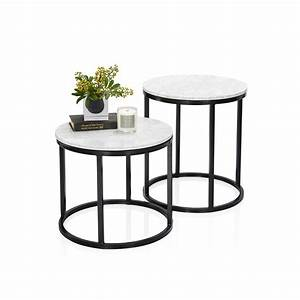 noho marble side table With stone coffee table and end tables
