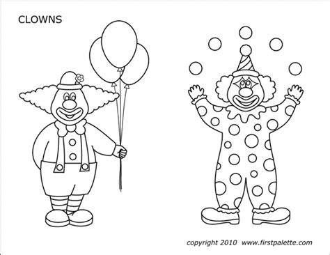 circus printables  printable templates coloring