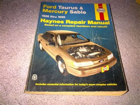 purchase haynes repair manual for ford taurus and mercury sable 1986 1995 motorcycle in