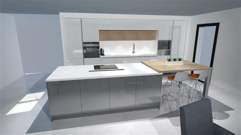 cuisine gris et blanc cuisine moderne blanc et bois
