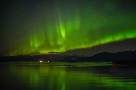northern lights alaska cruise northern lights in the skies from an