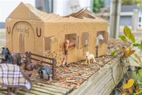basteltipp schleich pferdestall selbst bauen und altkartons verwerten