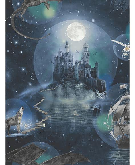 magical kingdom wallpaper blue arthouse  fantasy