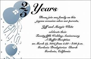 wedding invitation wording 25th wedding anniversary With examples of 25th wedding anniversary invitations