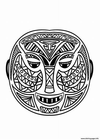 African Coloring Mask Masks Pages Adult Africa