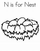 Nest Coloring Bird Pages Nests Preschool Template Letter Sheets Easy Kindergarten Sheet Tocolor Templates Print Crafts Sketch Letters Button Through sketch template