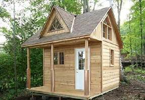 12 x 12 cottage cabin with loft and shed dormer