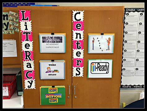 middle school literacy centers scholastic