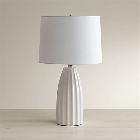 Ella White Ceramic Table Lamp + Reviews | Crate and Barrel