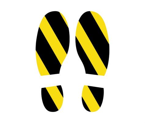 Shoe Print Floor Stickers Graphics Customark Limited