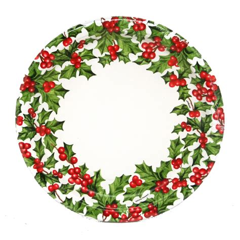 9 quot christmas paper plates partysuppliesdelivered